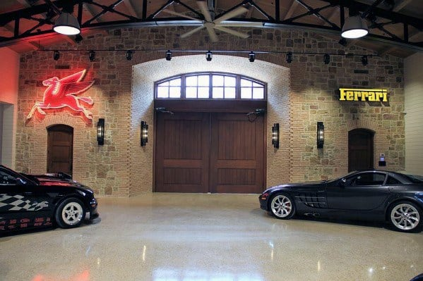 Natural Stone Garage Wall Ideas