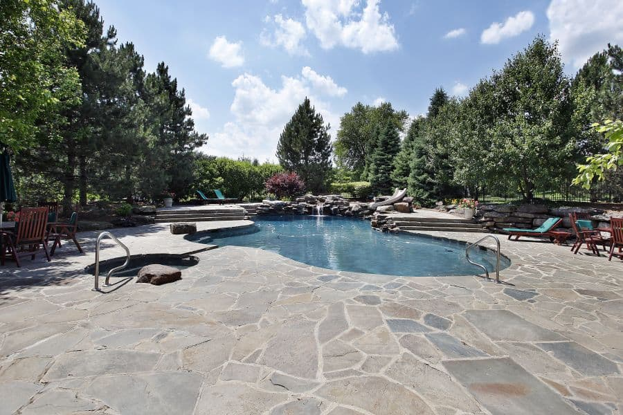 Natural Stone Pavers Pool Deck Ideas 1