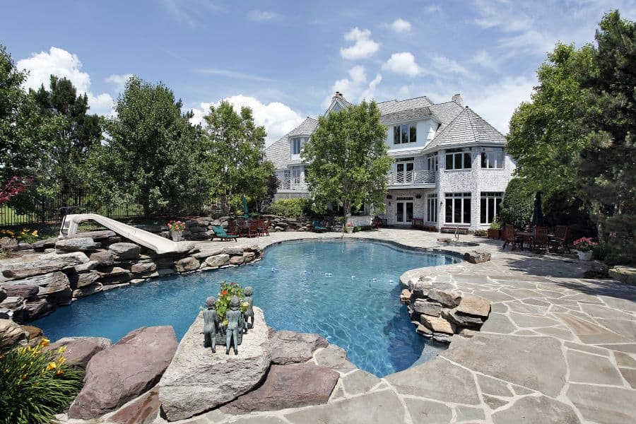 Natural Stone Pavers Pool Deck Ideas 2