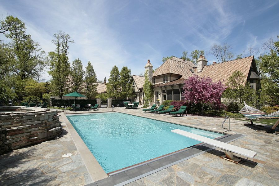 Natural Stone Pavers Pool Deck Ideas 4