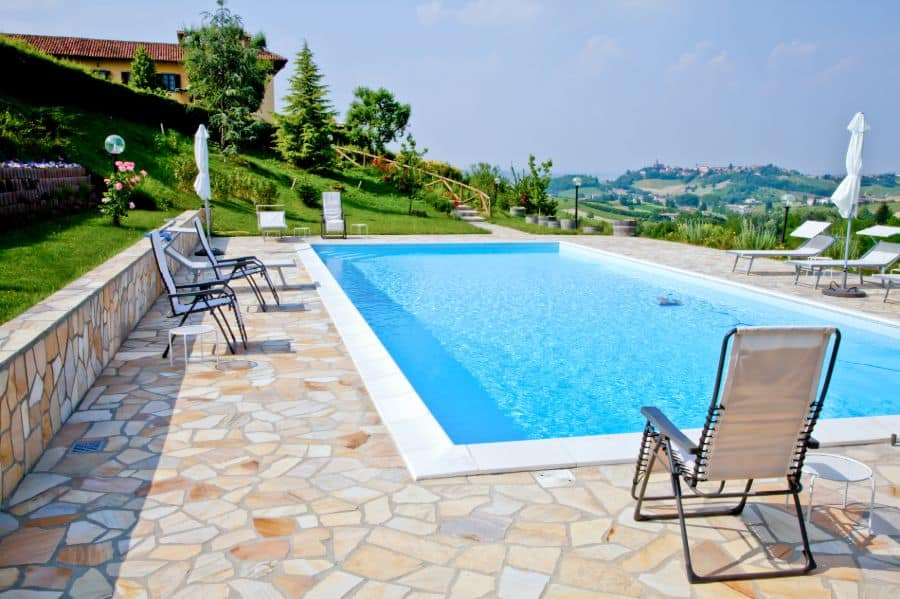 Natural Stone Pavers Pool Deck Ideas 5
