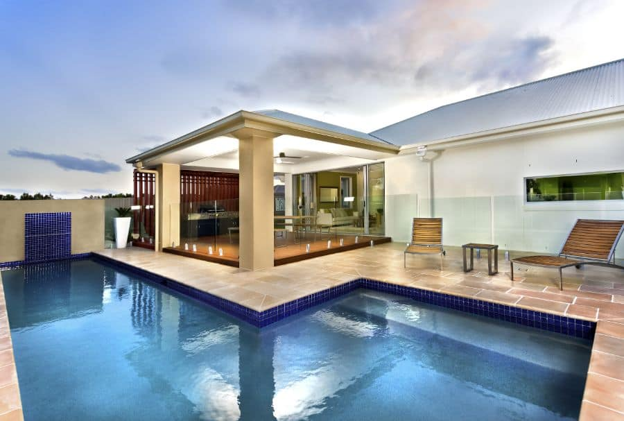 Natural Stone Pavers Pool Deck Ideas 6