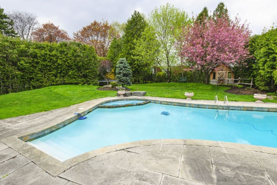 Natural Stone Pavers Pool Deck Ideas 8
