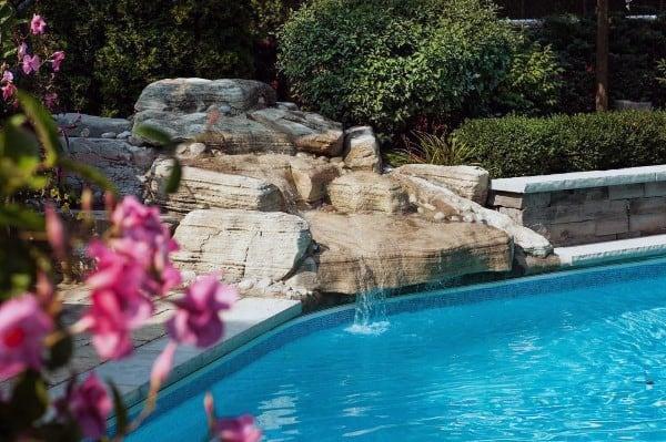 Natural Stone Rock Pool Backyard Waterfalls