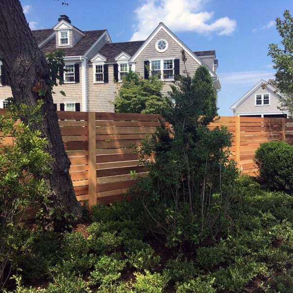 Natural Wood Backyard Fences For Dogs