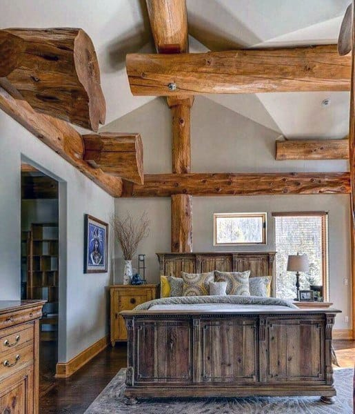 Top 40 Best Rustic Bedroom Ideas