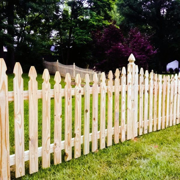 Natural Wood Design Ideas Dog Fence