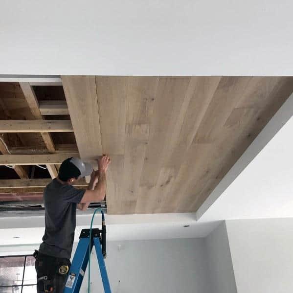 Natural Wood Unique Trey Ceiling Designs