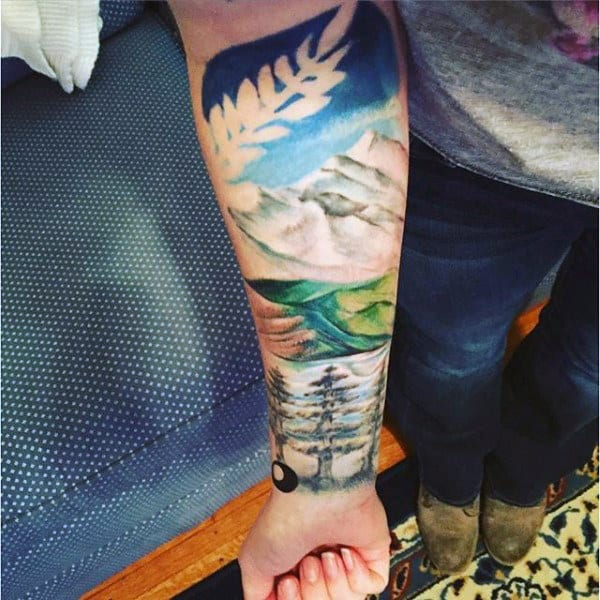 Nature Guys Forearm Half Sleeve Tattoos