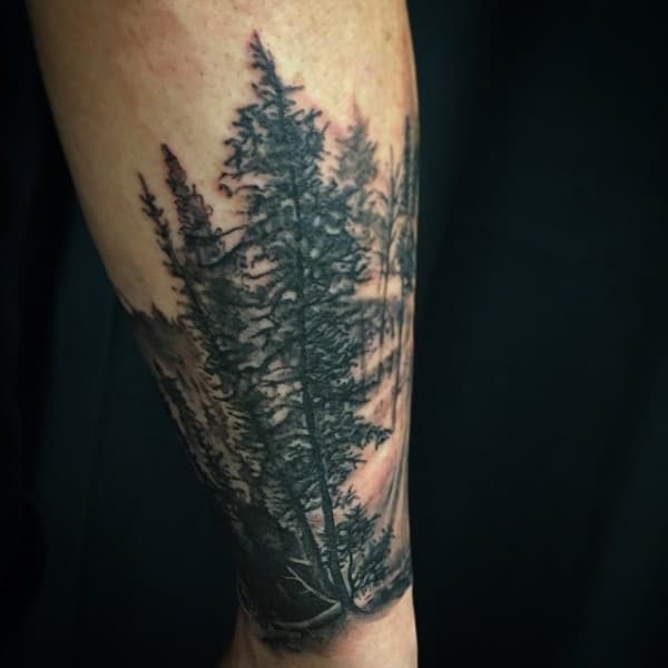 Nature Guys Forearm Tree Tattoo Ideas