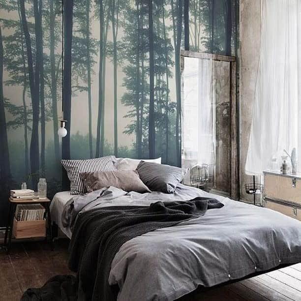 nature inspired bedroom wallpaper ideas blueselfstorageuk