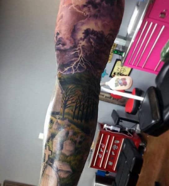 Nature Tattoo Lightning For Guys