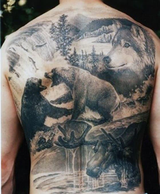 Deer Head Tattoo Design