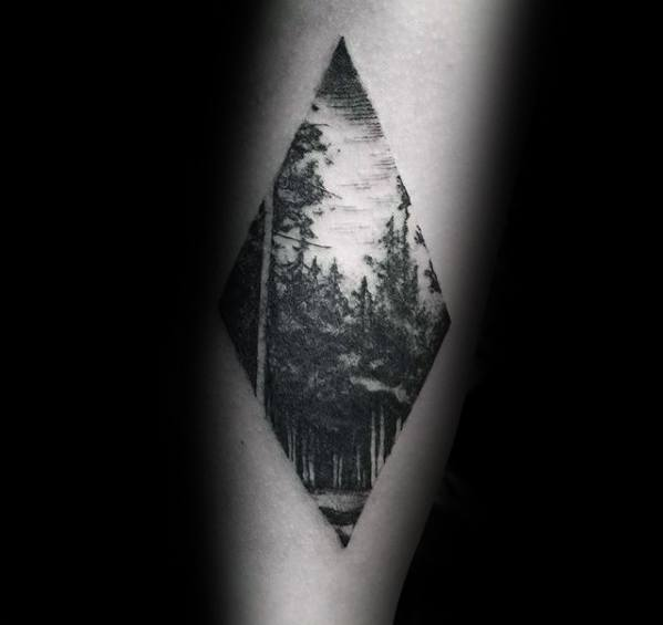 Nature Trees Guys Coolest Small Arm Tattoo Designs