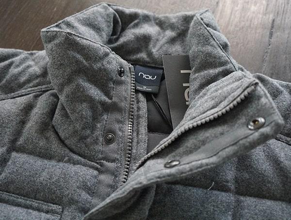 Nau Utility Wool Down Jacket For Men Collar Detail