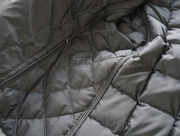 Nau Utility Wool Down Jacket Interior Bound Seams