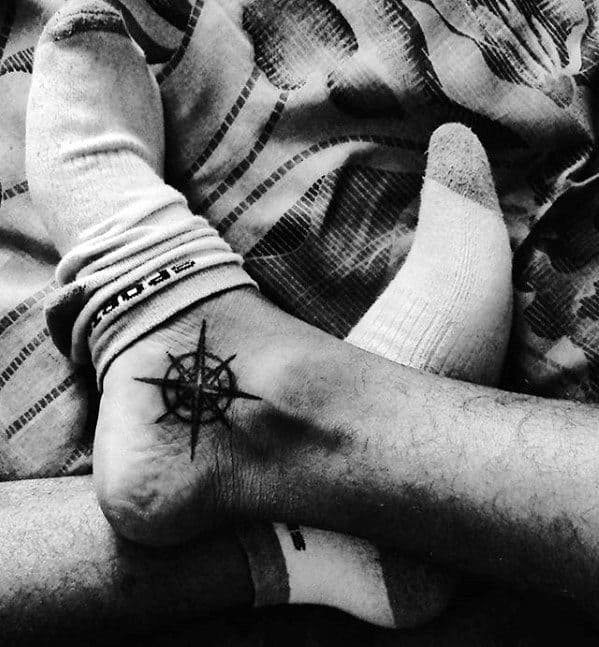 Nautical Star Ankle Tattoo Ideas On Guys