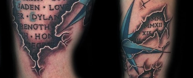 Nautical Star Tattoo Designs For Men