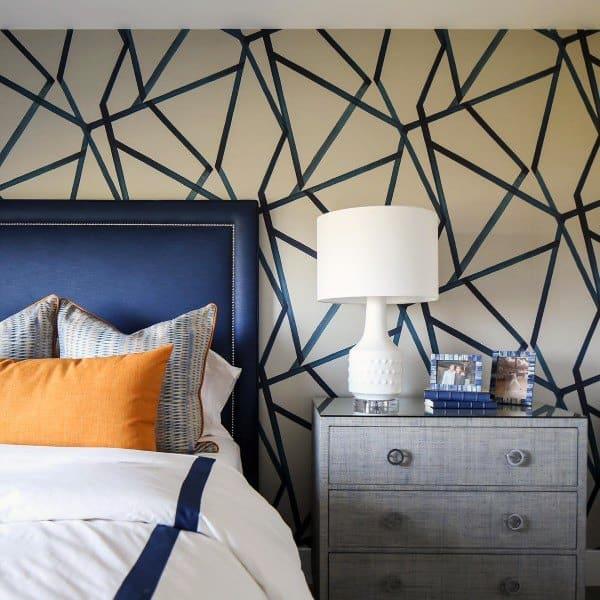 Top 50 Best Navy Blue Bedroom Design Ideas