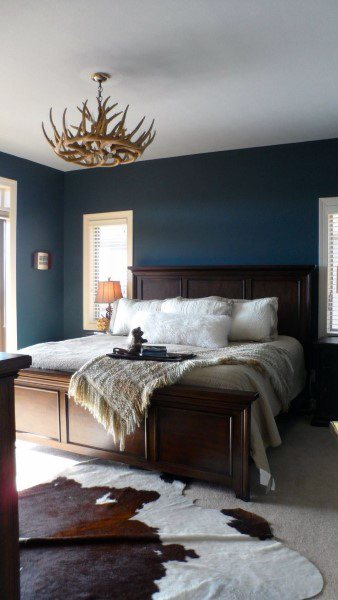 Top 50 Best Navy Blue Bedroom Design Ideas Calming Wall