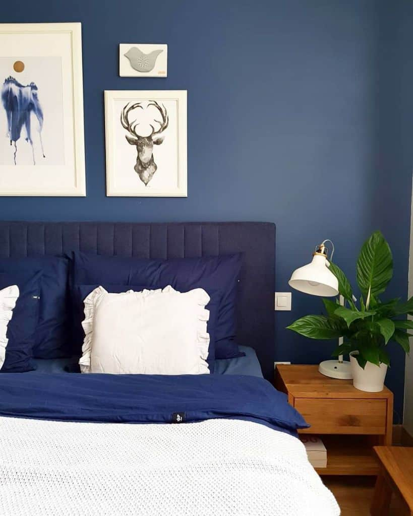 navy blue bedroom ideas domek.pani.rozi