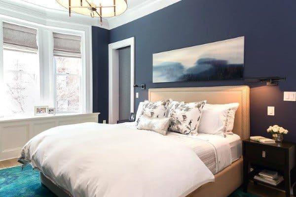 Top 40 Best Navy Blue Bedroom Design Ideas Calming Wall Colors Enchanting Navy Blue Bedroom