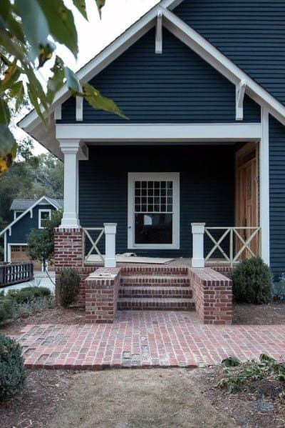 Navy Blue House Paint Home Designs