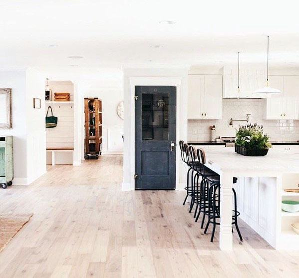 Navy Blue Kitchen Pantry Door Interior Ideas