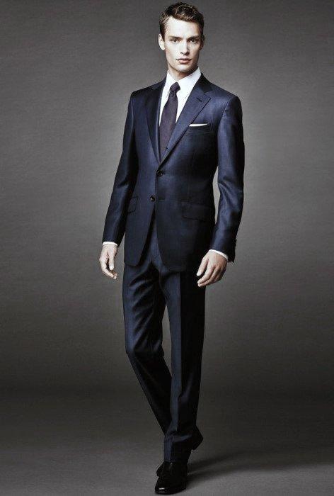 Navy Blue Suit Black Shoes Mens Style Ideas