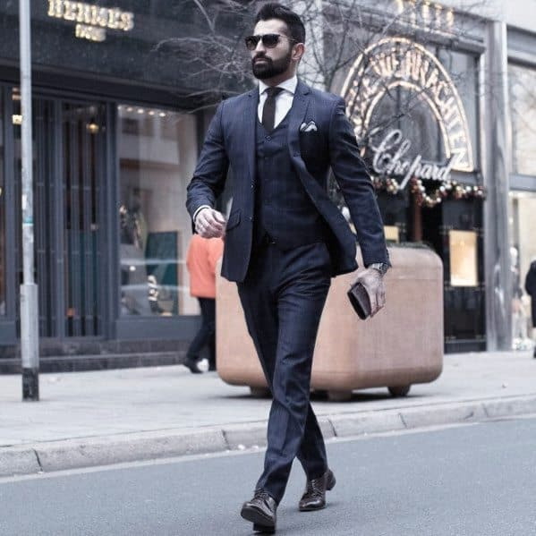 Navy Blue Suit Brown Shoes Ideas For Men