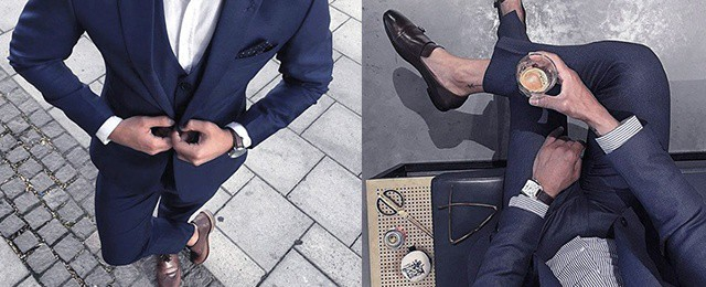 Navy Blue Suit Brown Shoes Styles For Men