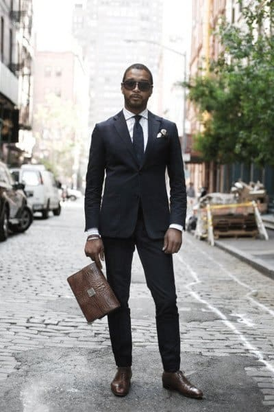 Navy Blue Suit Style Looks For Men