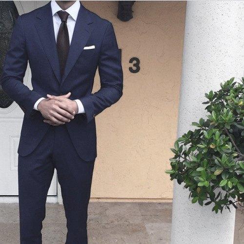 Navy Blue Suit Style Men