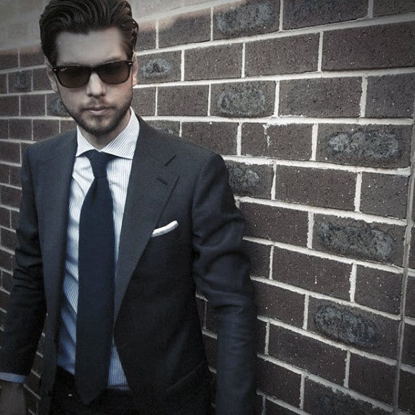 Navy Blue Suit Styles For Gentlemen
