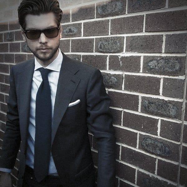Navy Blue Suit Styles For Gentlemen