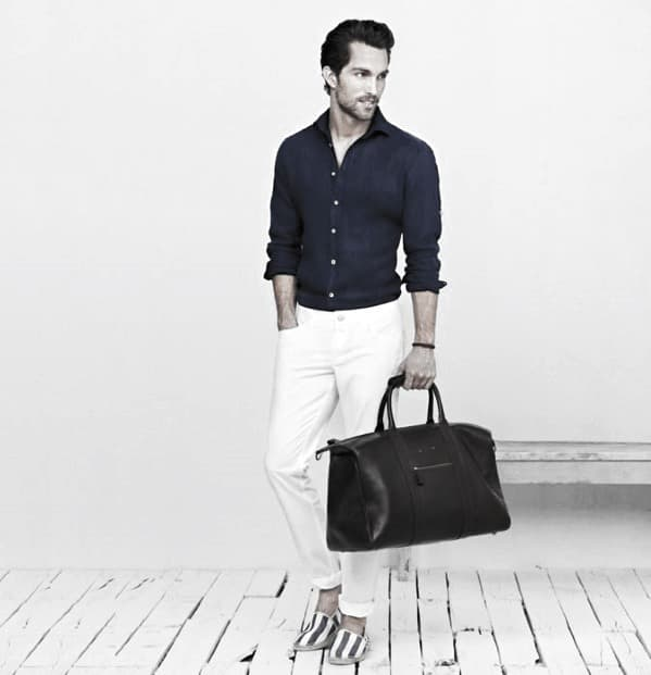 Navy Dress Shirt What To Wear With Mens White Jeans Fashionable Ideas