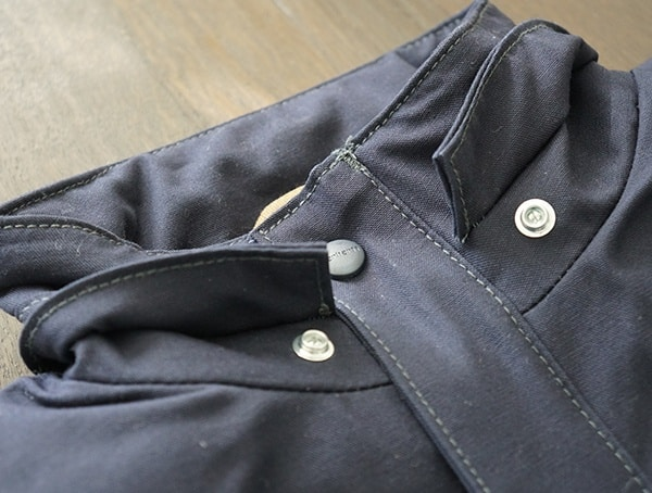 Navy Fire Resistant Full Swing Quick Duck Mens Work Jacket Neck Buttons