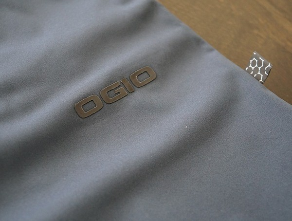 Navy Ogio All Elements Strech Wind Jacket Back Logo Detail