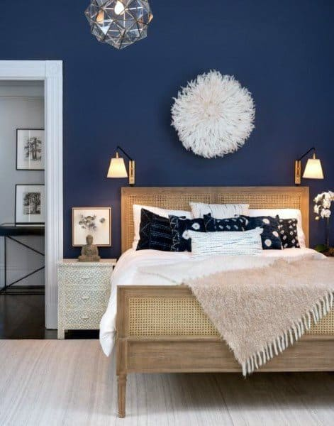 navy blue bedroom ideas
