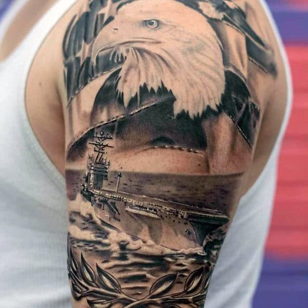 Tattoo Ideas Navy: 90 Patriotic Tattoos For Men