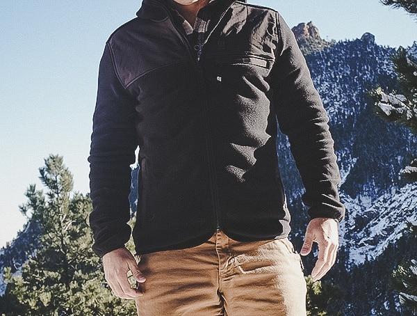 Navy Topo Designs Fleece Hoodie For Men Review