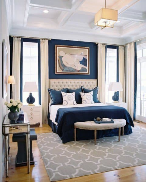 Navy White Bedroom Ideas
