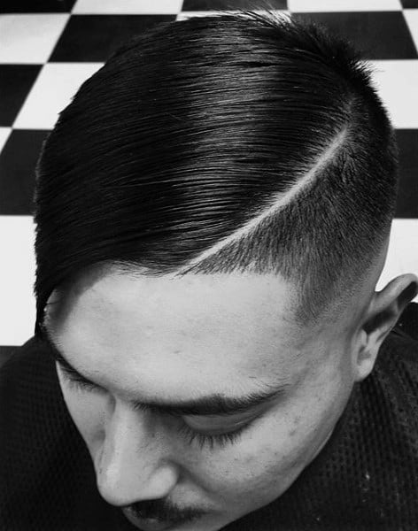 Neat Comb Over Hairstyle Men