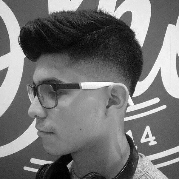 Neat Faded Faux Hawk Haircut For Gentlemen