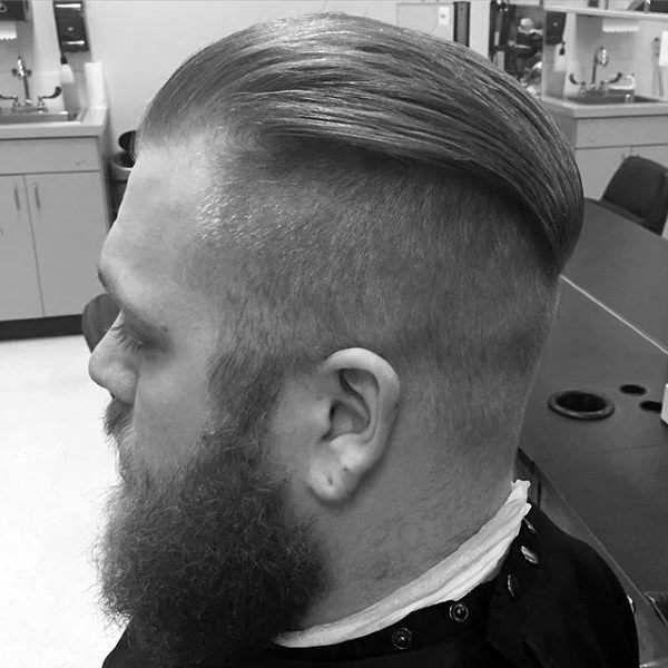 Neat Guys Undercut Hairstyle With Slicked Back Hair On Top