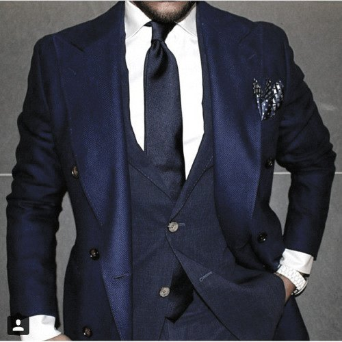 Neat Navy Blue Suit Styles For Men