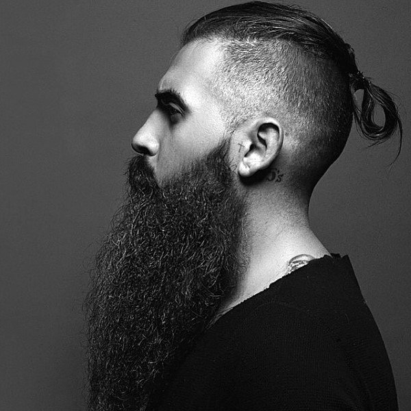 Neat Undercuts With Long Hair For Men With Beards