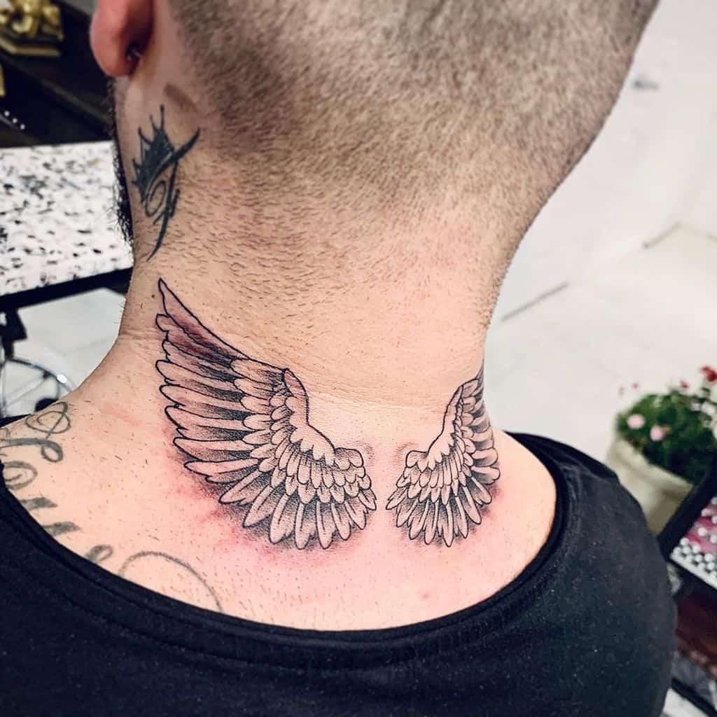 neck angel wings tattoos gwansoontattoos
