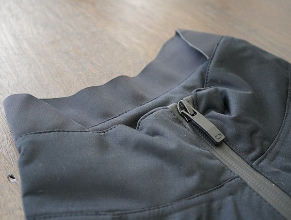 Neck Detail Mens Black Ogio All Elements Elite Rain Jacket