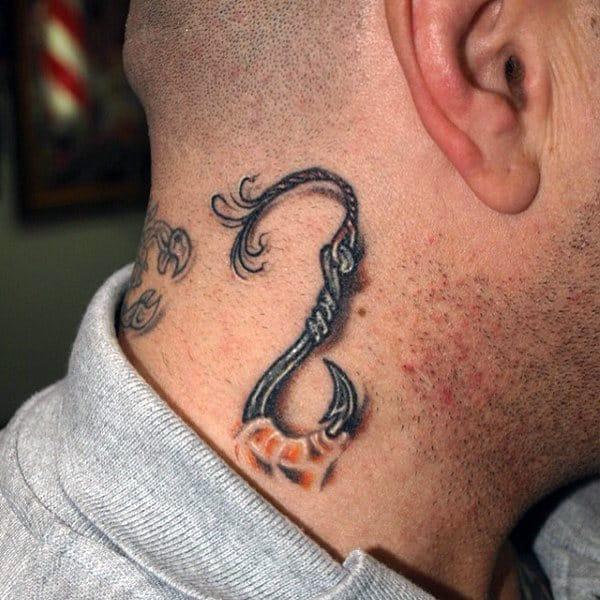 Fishing hook tattoos - photo#26